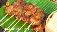 Thai Grilled Pork | Thai Food | หมูปิ้ง | Moo Ping