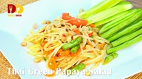 Thai Green Papaya Salad | Thai Food | ส้มตำไทย | Som Tum Thai