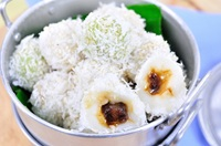 ขนมโค (ขนมไทย) Sugar Dumplings with Coconut - Kanom Ko (Thai Traditional Dessert)