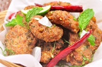 ลาบทอด Thai Deep Fried Spicy Minced Pork