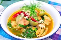 แกงอ่อมไก่ Thai Northern Style Chicken Soup
