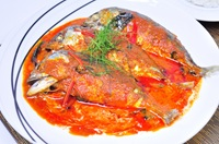 ฉู่ฉี่ปลาทู Fried Mackerel with Red Curry Sauce