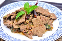 ตับหวาน Thai Spicy Pork Liver Salad