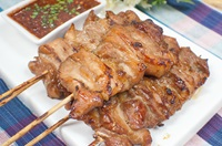หมูปลาร้า Grilled Pork with Fermented Fish Sauce